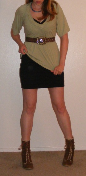 LBD & Pale Green Tunic