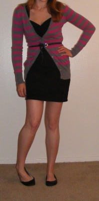 LBD & Pink and Grey Cartigan