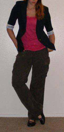 Navy Blazer & Cargo Pants