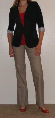 Navy Blazer & Khaki Pants